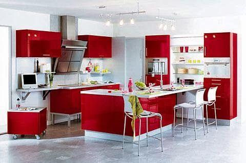 Cocinas Color Rojo Y Blanco Cocinas Color Rojo Cocina Roja Y