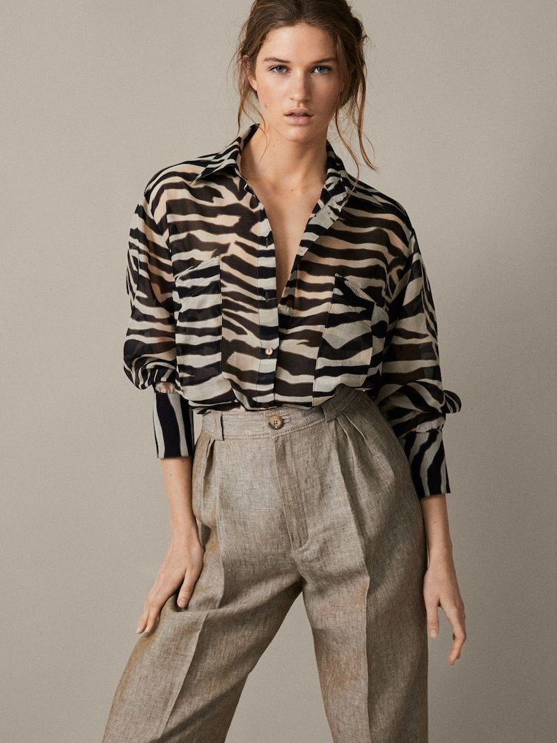 664afa32b5b7 View all - Shirts & Blouses - COLLECTION - WOMEN - Massimo Dutti - الأمارات  العربية المتحدة
