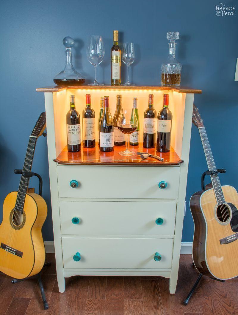 upcycled old chest of drawers to wine bar wohnen pinterest m bel diy dekoration und diy. Black Bedroom Furniture Sets. Home Design Ideas