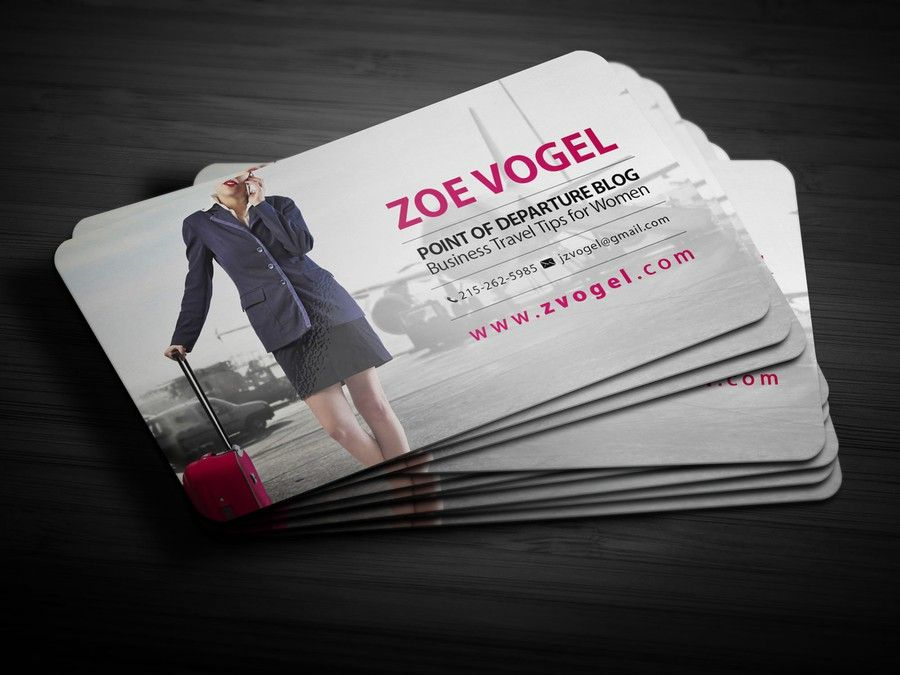 Freelance Simple Business Card For Travel Blogger Half Or Quarter Tone Background Image By Yanzkiiie Simple Business Cards Travel Blogger Cards