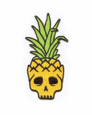 Pineapple Skull Patch – Strange Ways - $7
