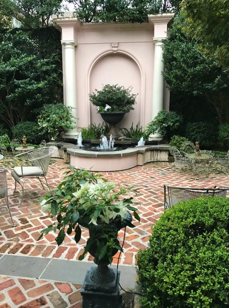 Pin By Brenda Hampton On Hove Courtyard Garden In 2020 Balcony Garden Garden Fountains Courtyard Garden
