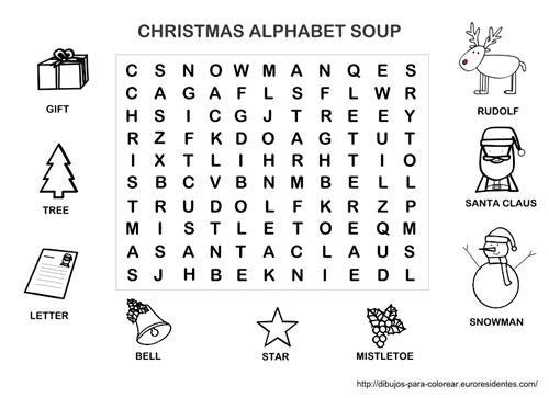 Sopa de letras de Navidad en inglés | Primer grado | Pinterest