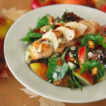 Chicken Apple Harvest Salad With Buttermilk Dressing With Images