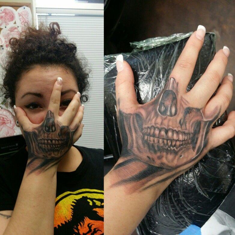 2b1949aa75830 Skull hand mask tattoo | Tattoos I like | Mask tattoo, Hand mask ...