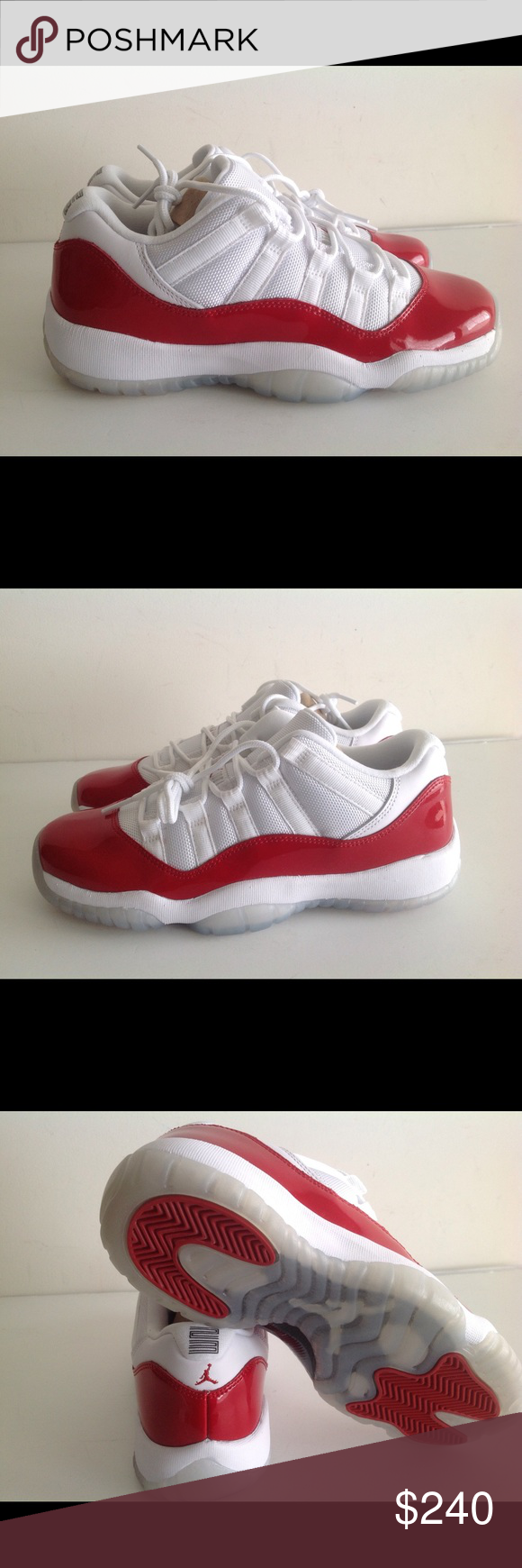 Air Jordan 11 Retro Low white cherry Brand new with original box size 6.5y  women size 8 Nike Shoes Sneakers 8f29c63450