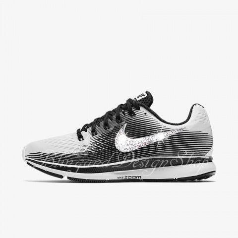 Nike Air Zoom Pegasus 34 LE Customized with Swarovski Crystals. Check out  this item in f8a400013