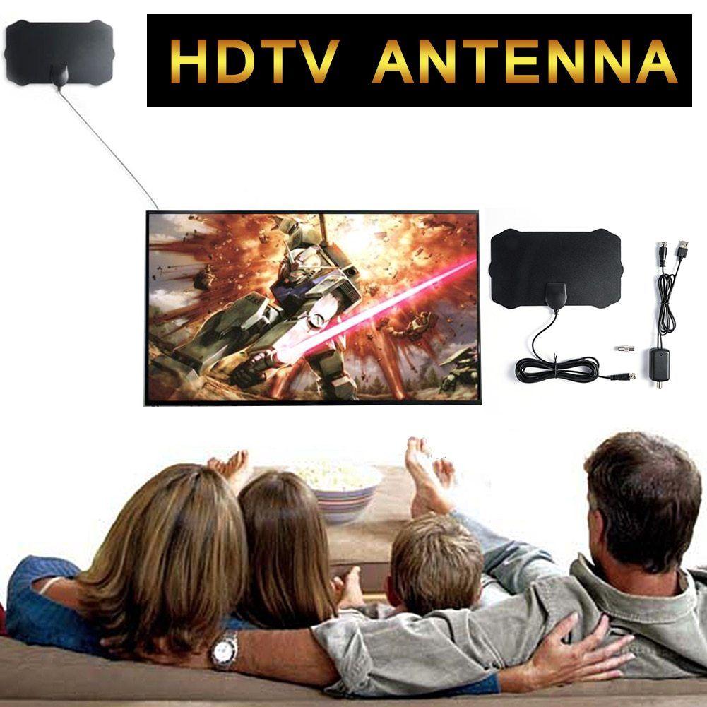 120 Miles Antena 1080P Digital HDTV Indoor TV Antenna /& Amplifier Signal Booster