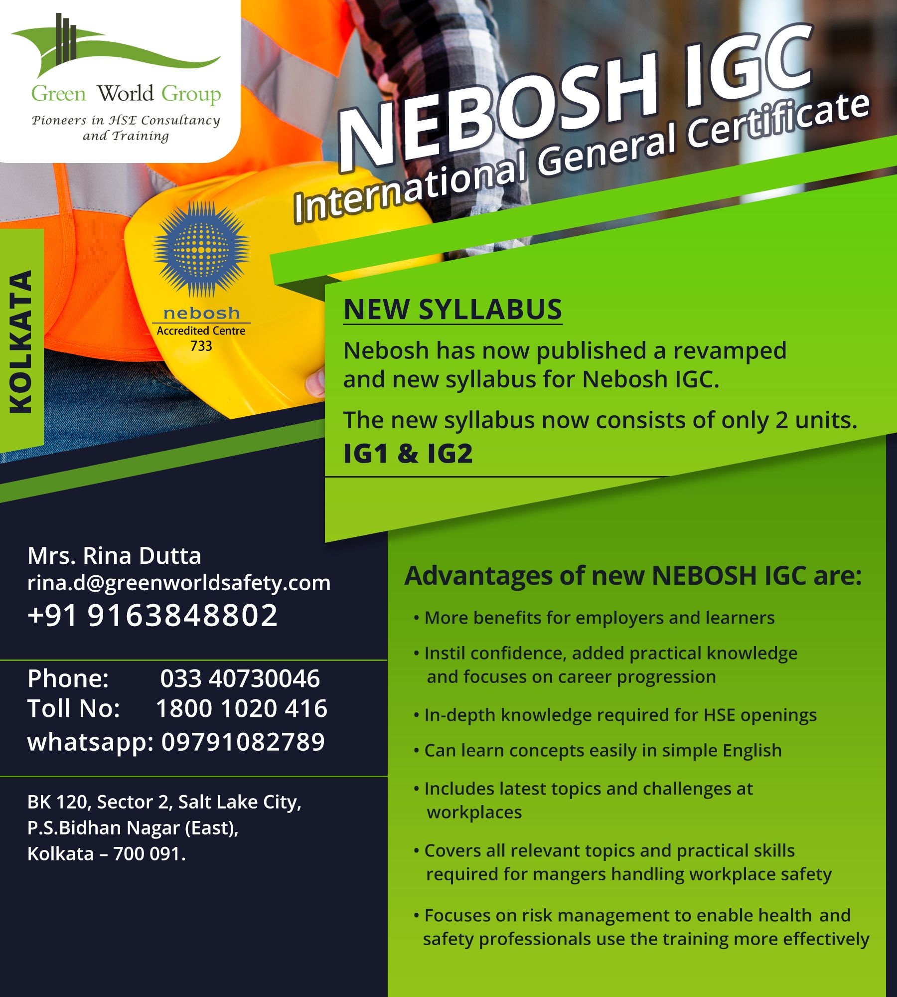 Nebosh Course In Kolkata Safety Courses Occupational Health And