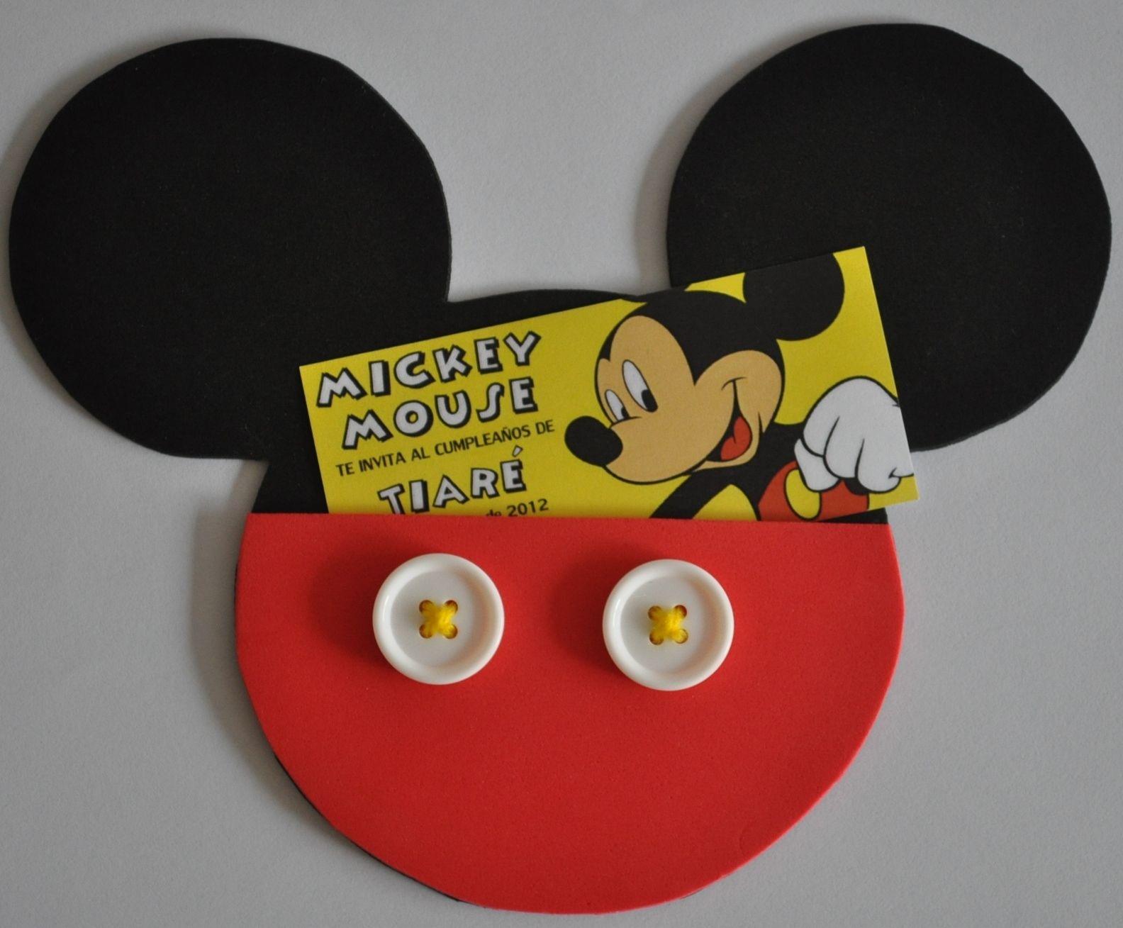 Invitaciones Mickey Mouse Invitaciones De Cumpleaños