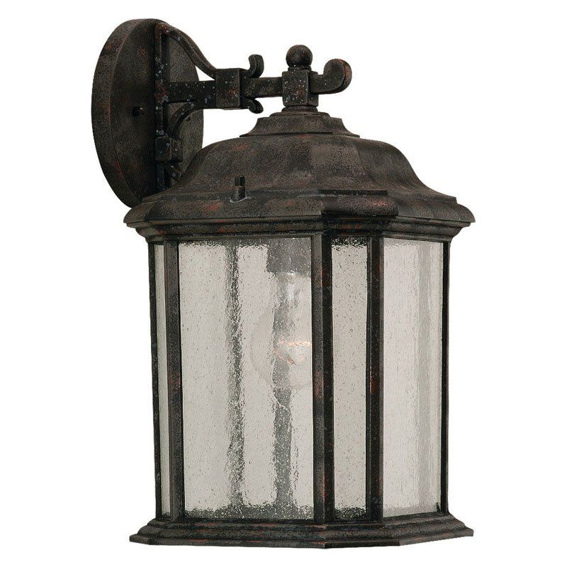 Sea Gull Kent Outdoor Hanging Wall Lantern - 14.5H in. Oxford Bronze - 84031-746
