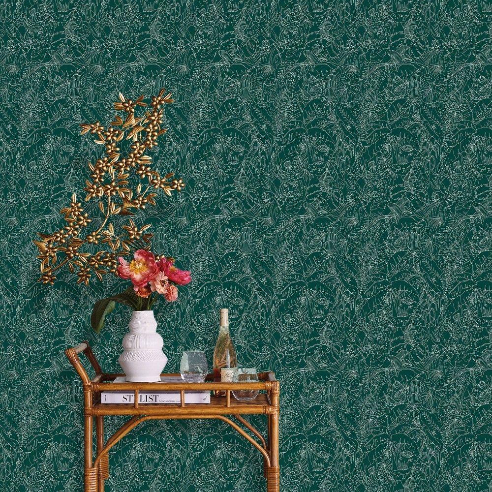 Jungle Animals Peel Stick Wallpaper Green Opalhouse In 2020 Peel And Stick Wallpaper Wallpaper Companies Removable Wallpaper