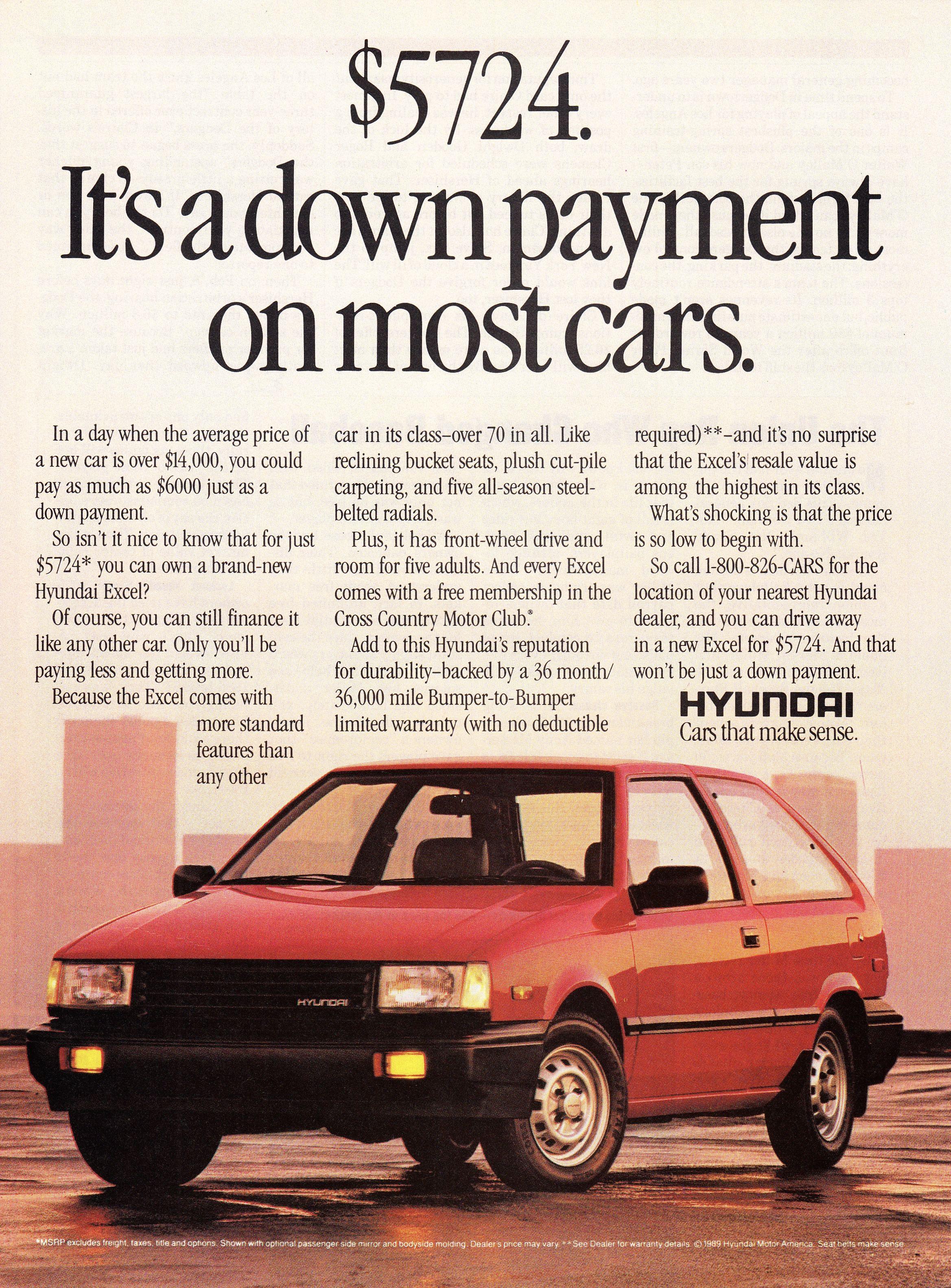 1989 Hyundai Excel.