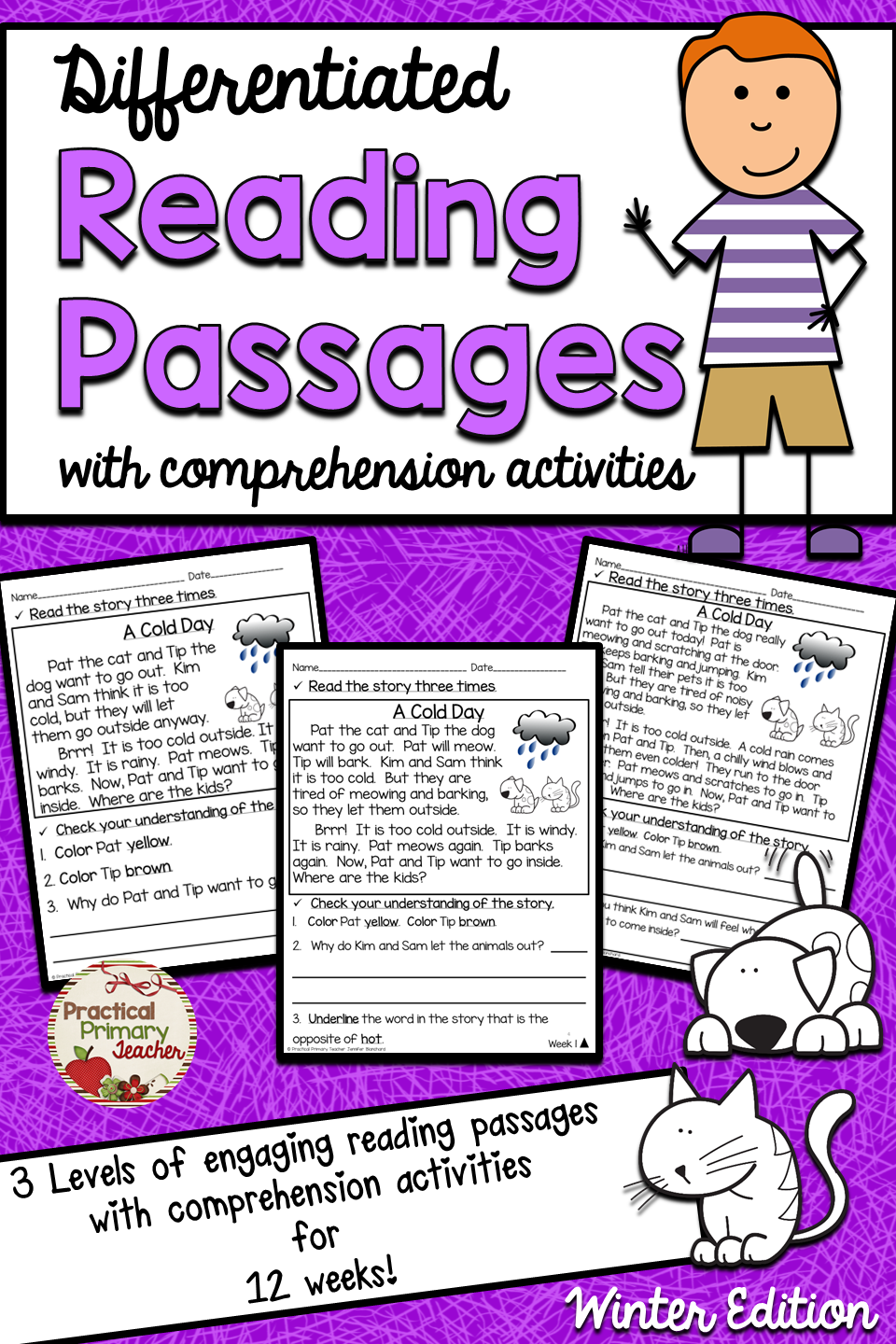 - Differentiated Reading Passages And Questions FICTION WINTER