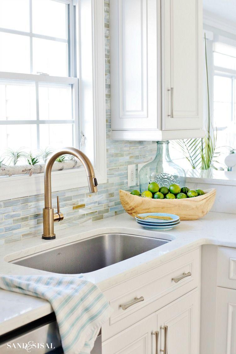 18 Hair Raising Coastal Kitchen Rugs Ideas In 2019 Coastal Cottage White Coastal Kitchen Spring Kitchen Decor Coastal Cottage