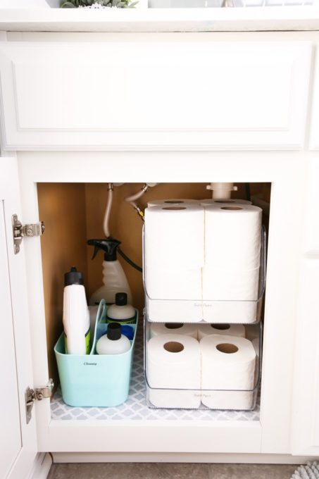 Guest bathroom refresh and organization with interdesign crafts recipes diy more pinterest storage also rh