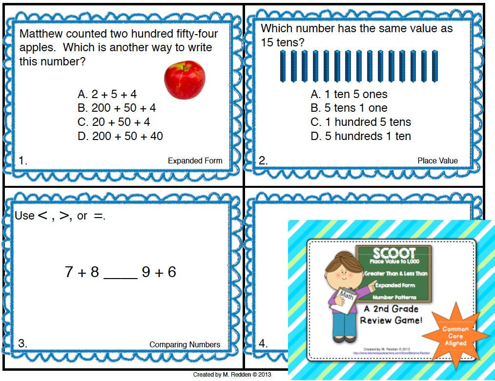 Math Scoot for 2nd Grade {Place Value and Expanded Form}   Pinterest ...