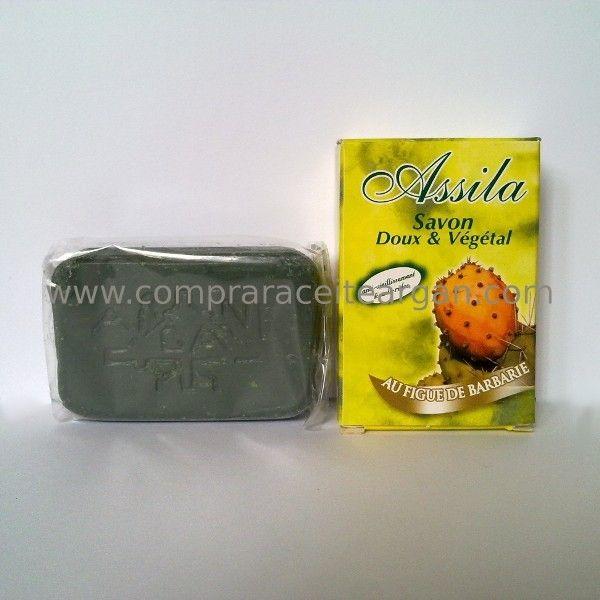 Cosméticos marroquíes. Jabón aceite semillas higo chumbo Assila