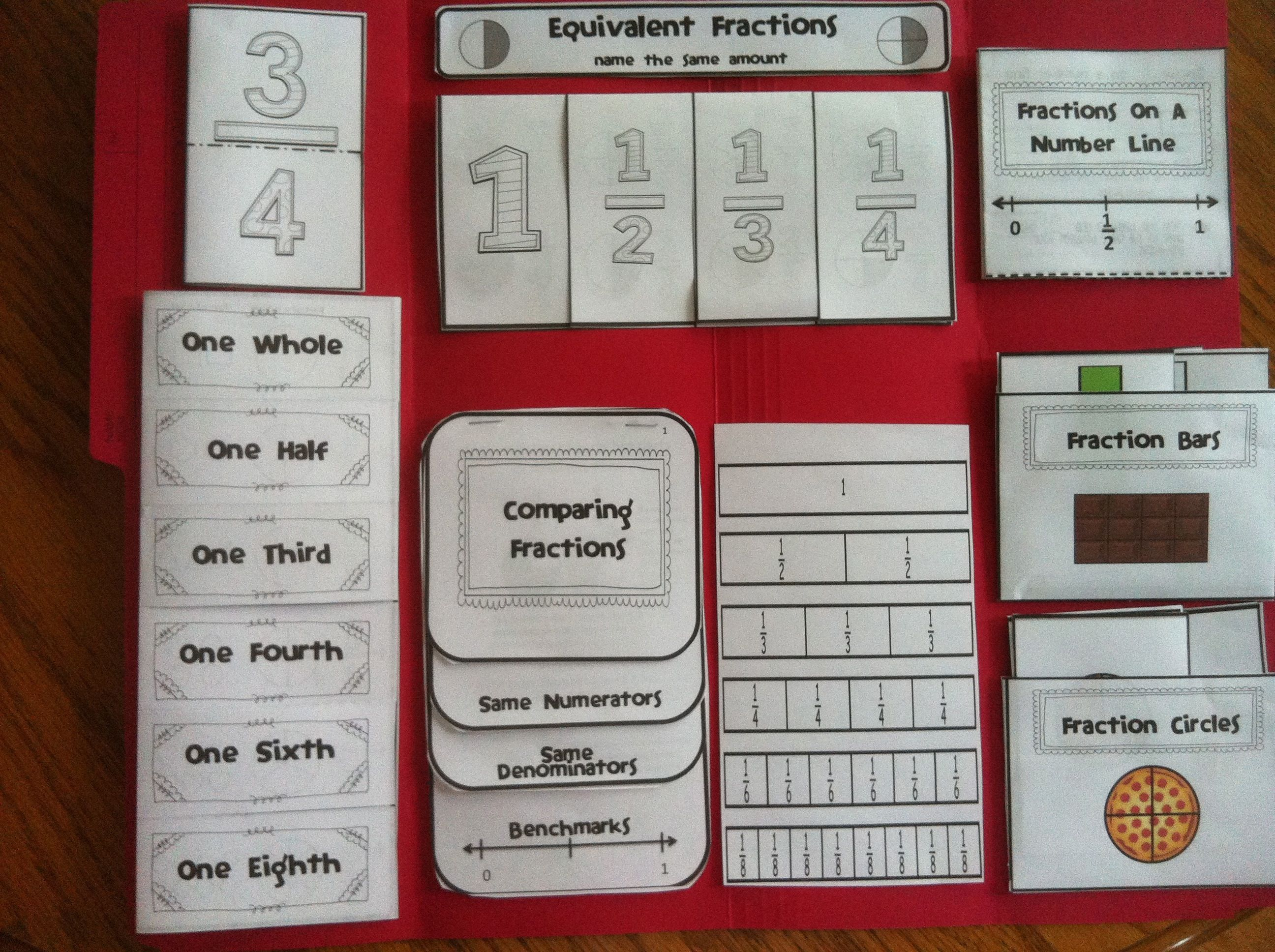 Fractions Lapbook | Learning - Math | Pinterest | Common cores, Math ...