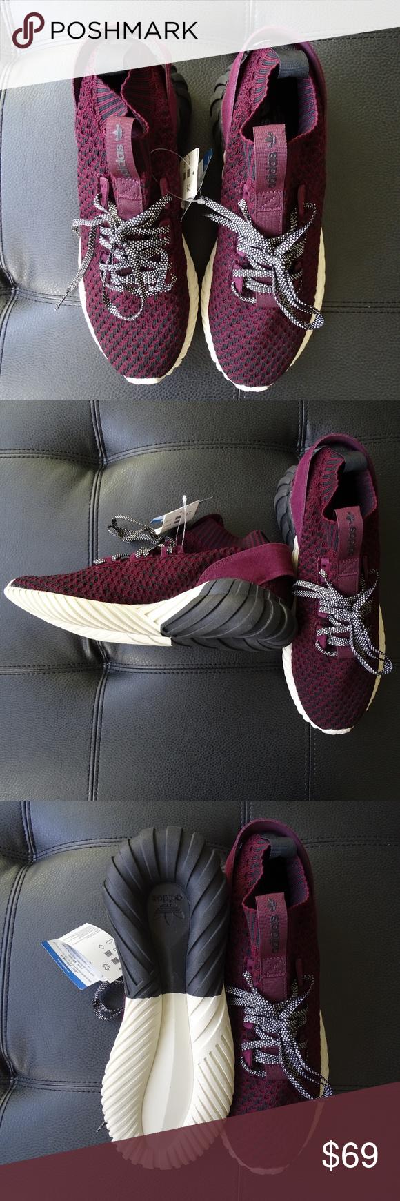 pretty nice 2a493 b4e4f Mens Adidas Original CQ0944 Tubular Doom Sock Shoe Men s Adidas Originals CQ0944  Tubular Doom Sock Shoes Primeknit Maroon Size  10.5 Color  Core ...