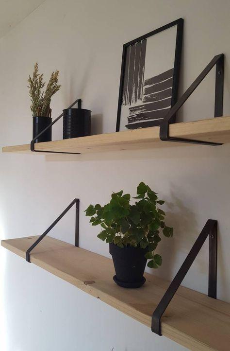 Ijzeren plankdragers, 21 of 31 cm #slaapkamerideeen