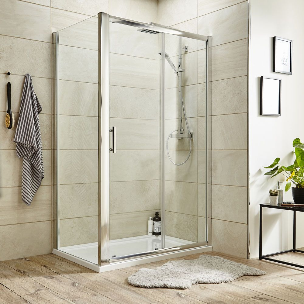 Turin 8mm Rectangular Sliding Door Shower Enclosure Available Now Framed Shower Door Shower Doors Glass Bathroom
