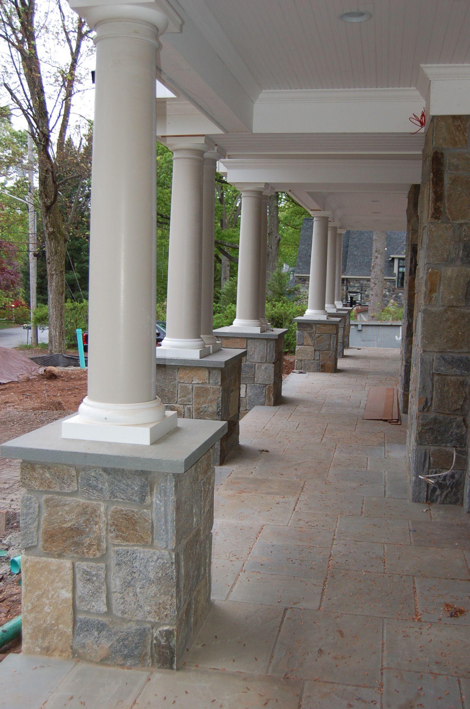 For This Job In Wyckoff Braen Supply Inc Provided The Irish Manor Granite In Full 4 Building Stone Veneer In Squ Building Stone Enclosed Decks Stone Veneer