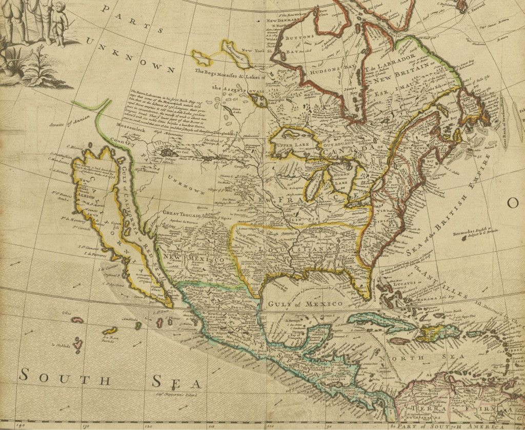 Early Map Of North America Depicting California As An Island - North convey in us map