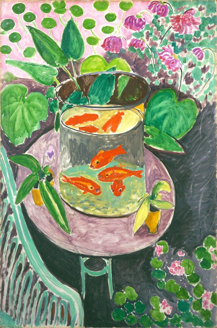 Pesci rossi opera di henri matisse dipinti di matisse for Immagini da colorare di pesci