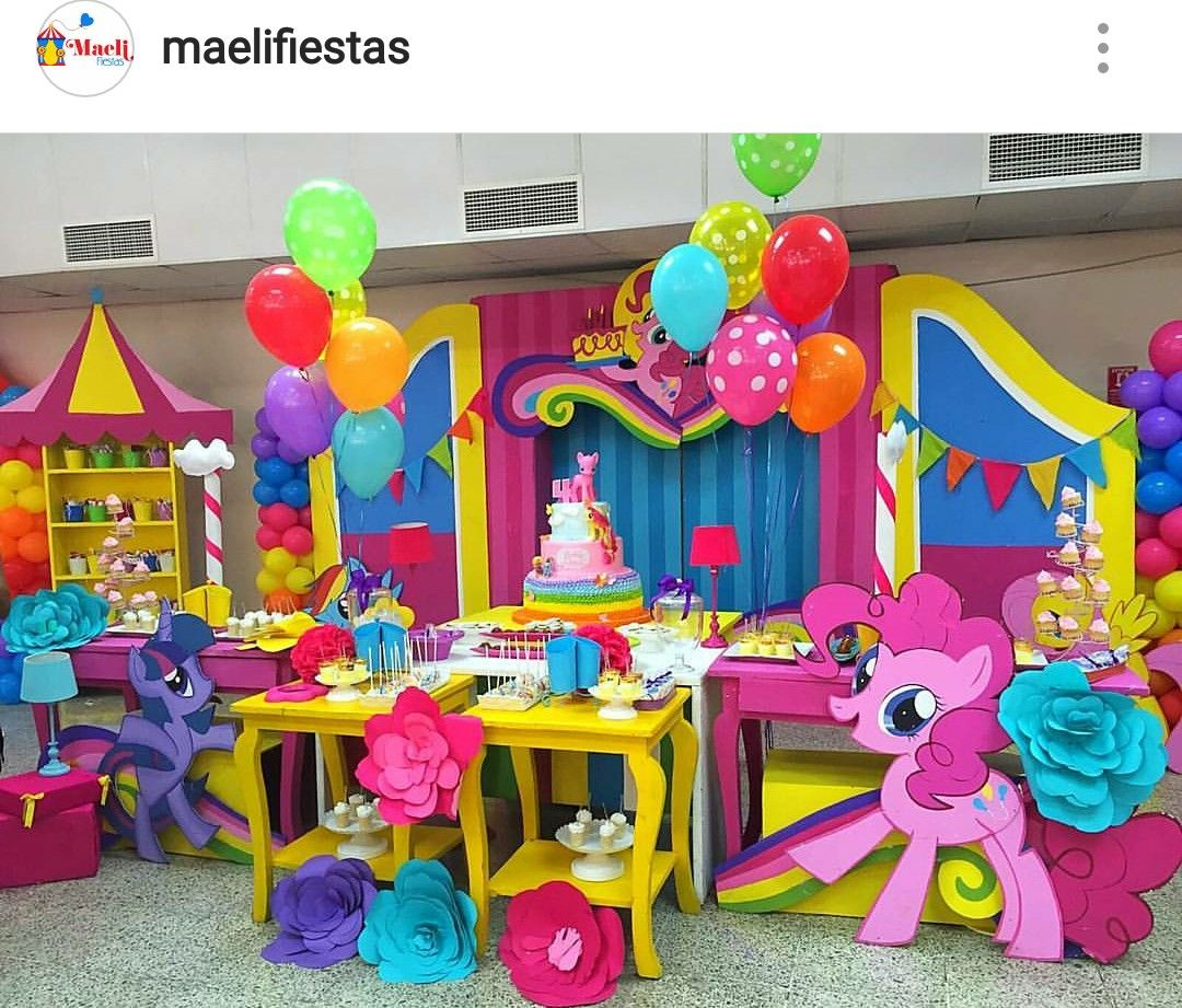 My Little Pony Birthday Party Dessert Table And Decor My Little
