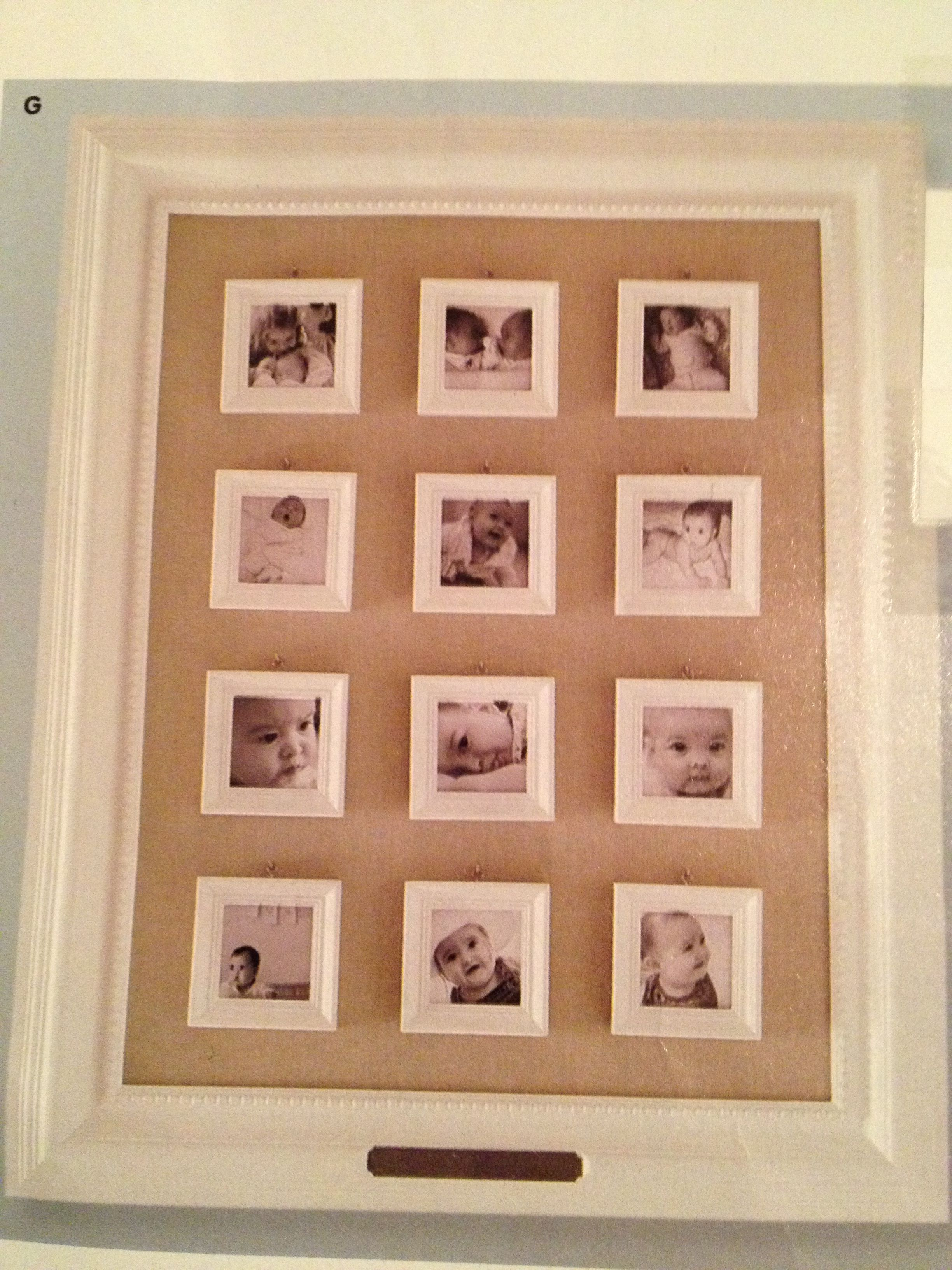 Picture Frame From Pottery Barn Kids I Love This 12 Month Photo Frame For A Picture From Every Month Of Your Ba Frame First Birthday Crafts Pottery Barn Decor