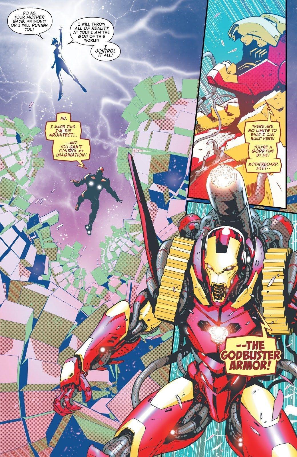 Iron Man Debuts: The Godbuster Armor (Tony Stark: Iron Man # 10)