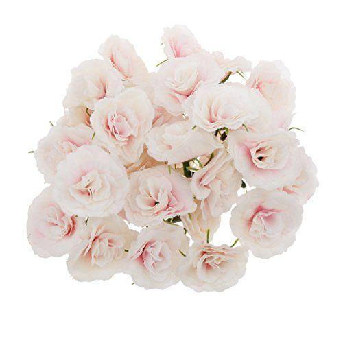 Magideal Artificial Faux Silk Rose Flower Heads Bulk Wedd Https