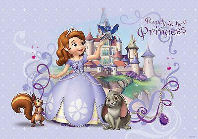 Tapete Fototapete für Kinderzimmer Disney Sofia die Erste