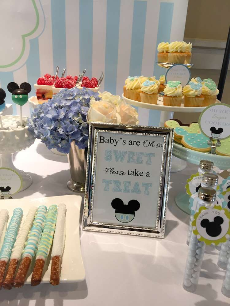 Baby Mickey Baby Shower Party Ideas | Photo 2 of 9 | Catch My Party