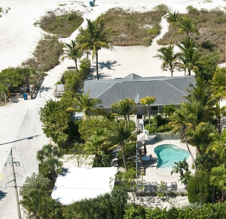 Ariel View Of Beachfront Bliss Showing The Guest House And