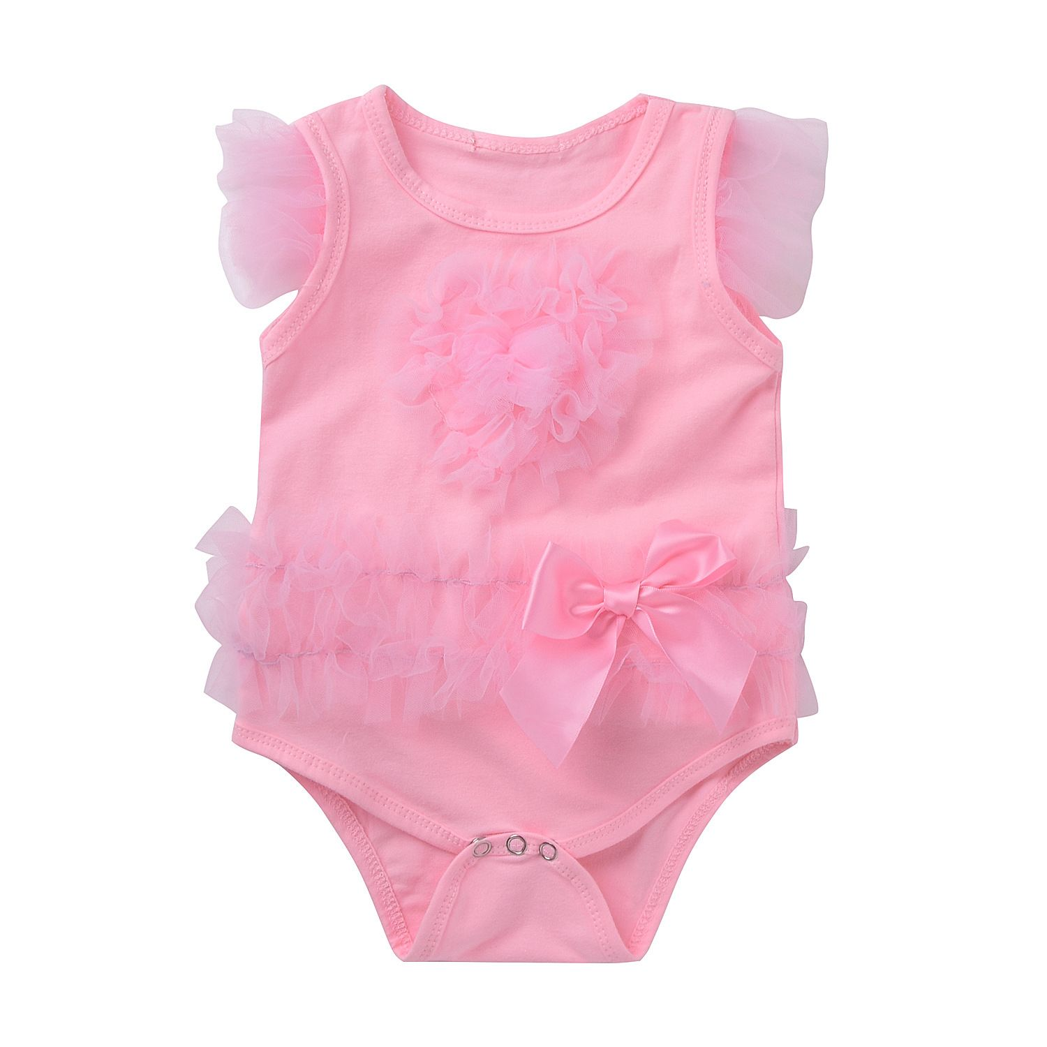 pink newborn body lovely lace summer wear for baby boys free