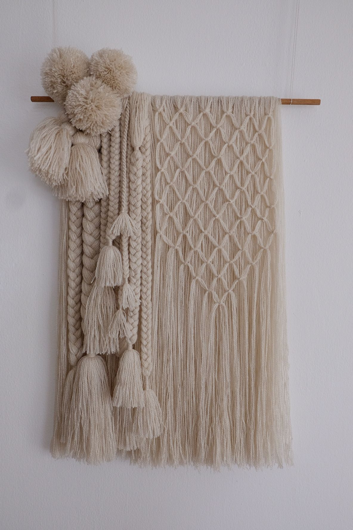 Pin By Chris Of Chrissywear On Crochet Yarn Hanging Diy Wall Hanging Yarn Wool Wall Hanging