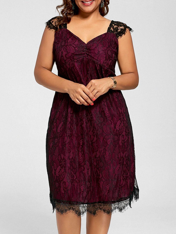 Lace a line plus size cocktail dress plus pinterest dresses