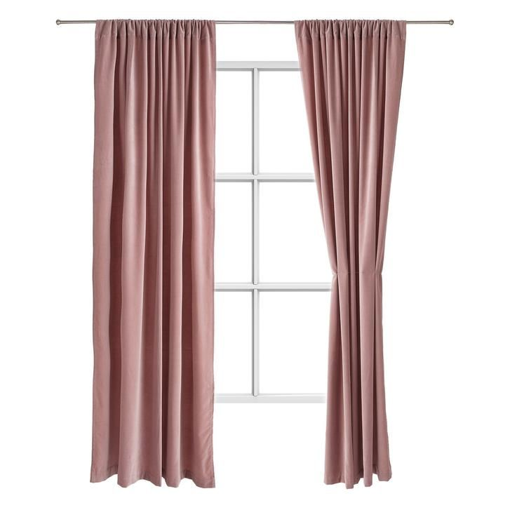 Samana Curtain Set [Blush Pink]- 135x320 Cm [hidden]