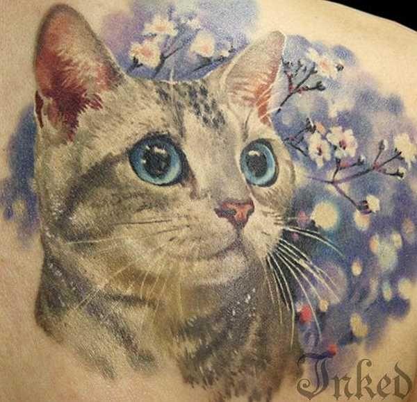 24 wundervolle katzen tattoos tattoo cat and tatoos. Black Bedroom Furniture Sets. Home Design Ideas