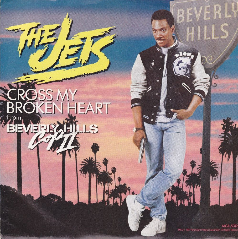 "The Jets / Cross My Broken Heart / 7"" Vinyl 45 RPM Jukebox Record & Picture Sleeve #Jets #BeverlyHillsCop"