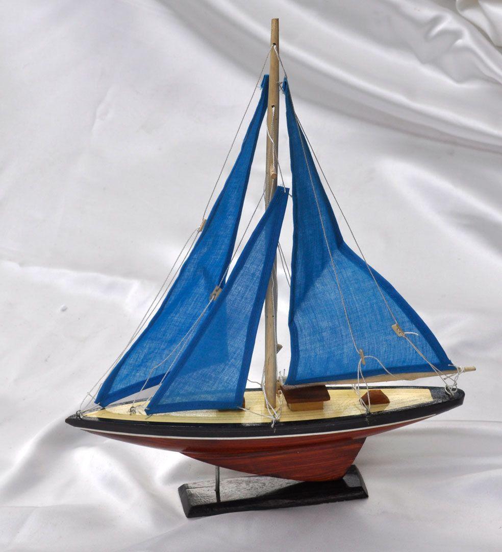Wooden Sail Boat Model Toy Sailing Figurine Vietnamese Handicraft Vietguild | eBay