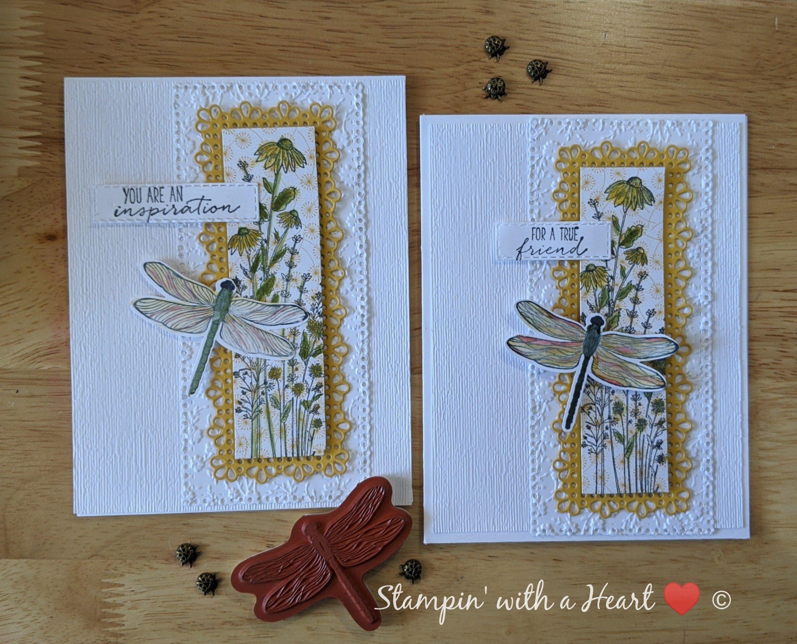 Dragonfly Garden sneak peek - Stampin' With a Hear