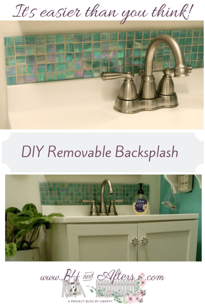 Removable Tile Backsplash For Bathroom Vanity B4 And Afters Removable Backsplash Tile Backsplash Backsplash