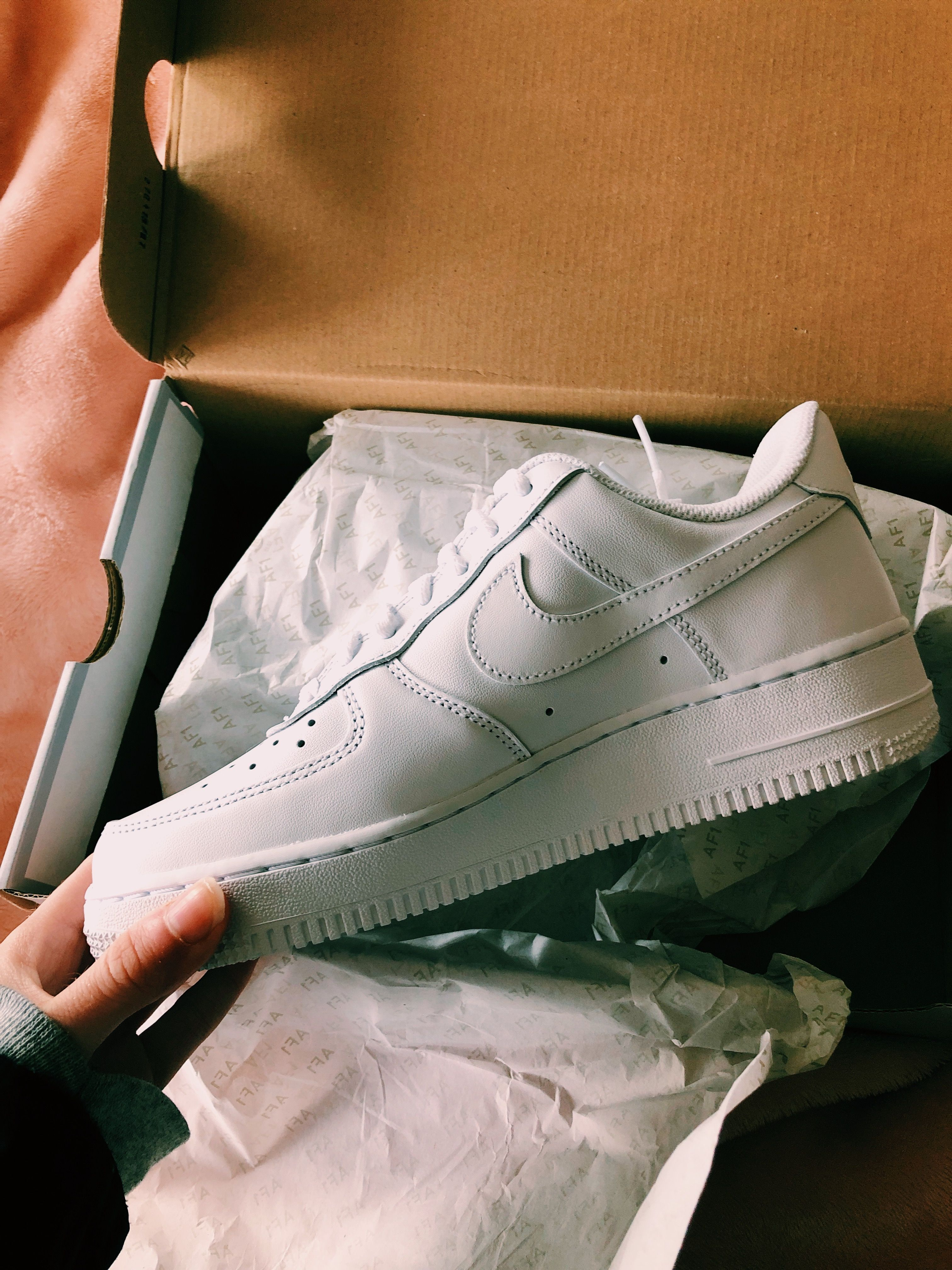 new style 22766 55dba Nike Air Force ones, Nike Air Force 1, AF1, just do it, sneakers, white  sneakers, kicks, trainers, new sneakers, shoes, Nike, ootd, vsco, instagram