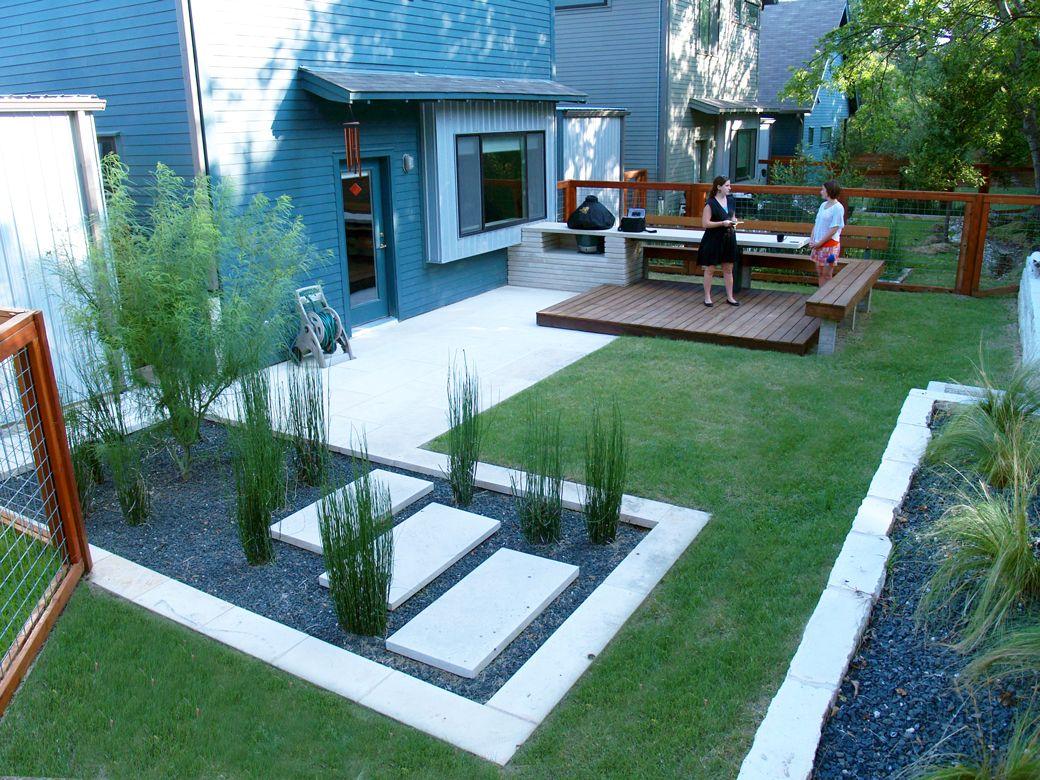 Combo Of Elements Colors Modern Backyard Design Modern Backyard
