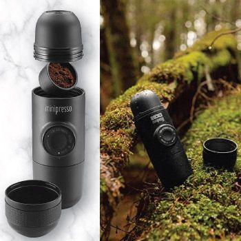 minipresso portable espresso maker for men who like the coffee and the great outdoor christmas gift ideas for boyfriend 2017 christmas unique gift
