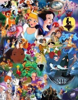 disney character collage character