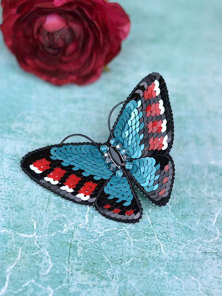 4c0f88ca0e9 Green and Red Butterfly Brooch, Swarovski Brooch, Green Beetle Brooch,  Christmas gift